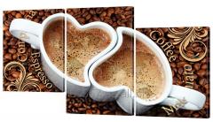 Картина модульная 236 кофе