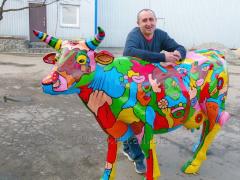 Набивная фигура Корова в натуральную величину в