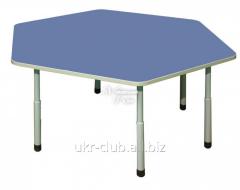 Table children's 6 coal adjustable