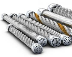 Rope steel zinced a konstrution: 6x24(0+9+15)