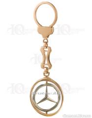 """Золотой брелок """"Mercedes"""" 585"""