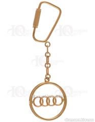 "Gold charm of ""Audi"" 585 of"