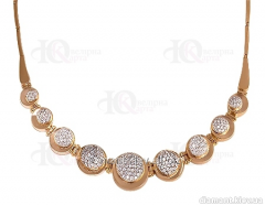 Gold necklace 585 of test with cubic zirconias,