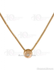 Gold necklace 585 of test with diamond, the