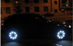 Illumination of disks stroboscope