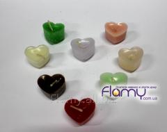 Свечи плавающие парафиновые, сердечки, 12 штук
