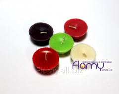 Candles are floating, paraffin, light yellow, 5