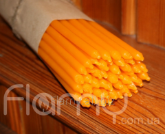The candle is church yellow, long, packing of 50