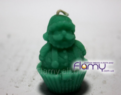The candle Father Frost small, height is 45 mm