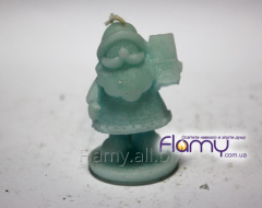 The candle Father Frost with a gift, height is 60