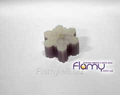 Candle Snowflake, paraffin, weight of 60 g