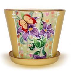 Вазоны для цветов разные из белой глины продам