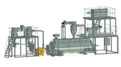 Installation for processing postspirit grain bards