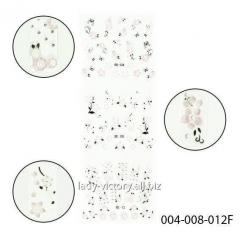 3D stickers for design of nails. Convex flowers.