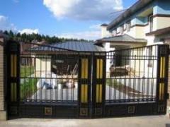 Ворота металлические кованые гаражные