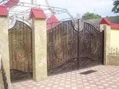 Ворота металлические кованые распашные