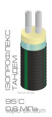 Предизолированная труба Изопрофлекс Тандем, диаметр 40х40/125мм, 0,6 Мпа