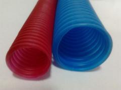 Tube corrugated peshel
