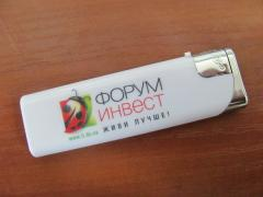 Lighters with a logo (Lviv), drawing a logo on