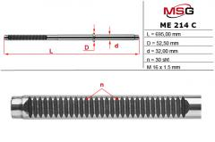Rod of a steering rack of MERCEDES VITO W638 96-03