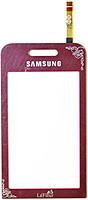 Тачскрин для Samsung S5230 Star. красный. La'Fleur