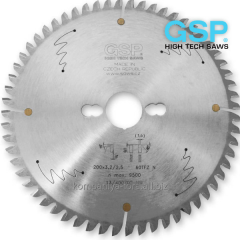 Circular saws 200×2,2×30-32 Z=100 for cutting of