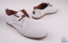 Туфли мужские из натуральной кожи с перфорацией