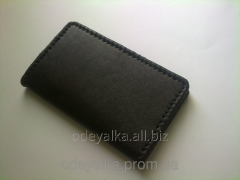 Purse from genuine veal leather