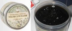 Натуральное сибирское мыло для бани «Черное мыло