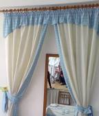 Curtains with a lambrequin are more decorative