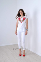 Blouse Miracle poppies chervon_
