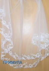 "Veil the wedding embroidered ""Primrose"