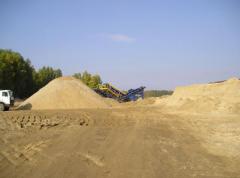 Пісок річковий і кар'єрний