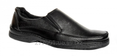 Классические черные мужские туфли без шнурков