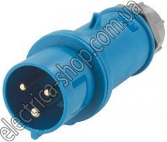 Вилка силовая кабельная 32А 230В 3п IP44 тип №260