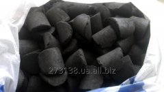 Brown coal of the B1 brand in briquettes