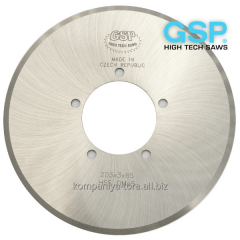 Disk knives of GSP (Czech Republic) for cutting of