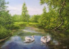Author's pictures landscapes (canvas, maslo_.