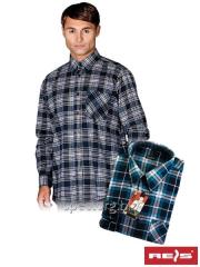 Shirt man's flannel KF-GNY (100% cotton)