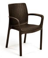 Chair plastic Bali, brown