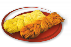 Cheese of Suluguni a braid smoked, Cheese of