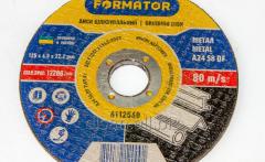 Disk grinding on metal 125х6.0х22.2, Formator