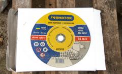 Disk detachable on metal 230х3.0х22.2, Formator
