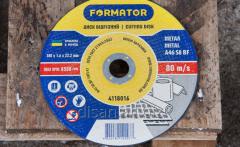 Disk detachable on metal 180х1.6х22.2, Formator