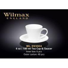 Чашка чайная с блюдцем 180 мл Wilmax