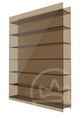 Cellular polycarbonate 10 of mm bronze Soton