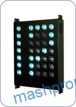Index route LED digital Z green colors of a