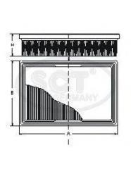 SCT SB 996 air filter