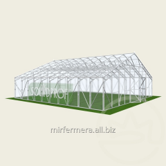 Duo-pitch greenhouse of 10 Solidprof