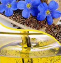 Oil of flax of a cold extraction in bulk or in